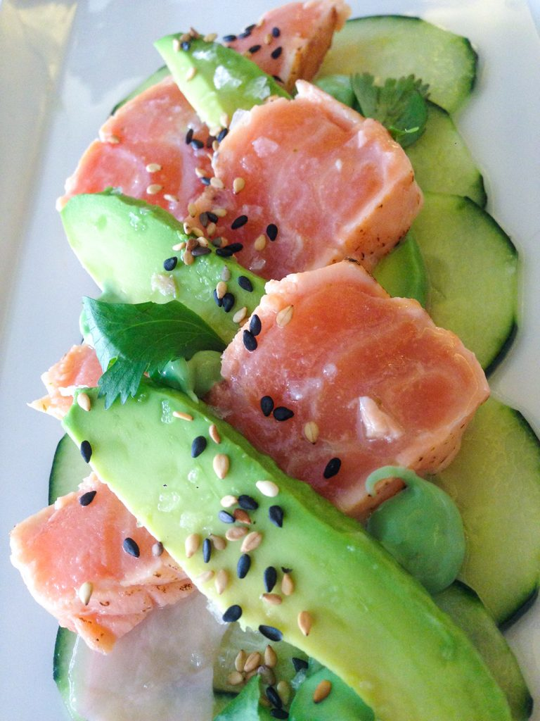 salmon and avocado